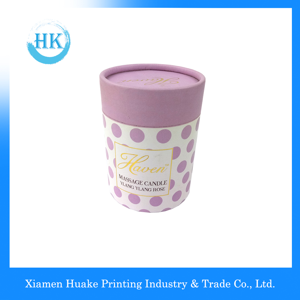 Colorful Printed Round Candle Hat Boxes With Lids