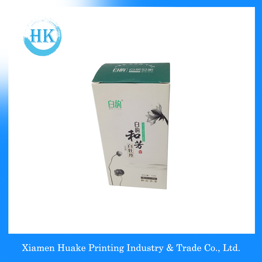 White Kraft Paper Square Tea Gift Packing Box