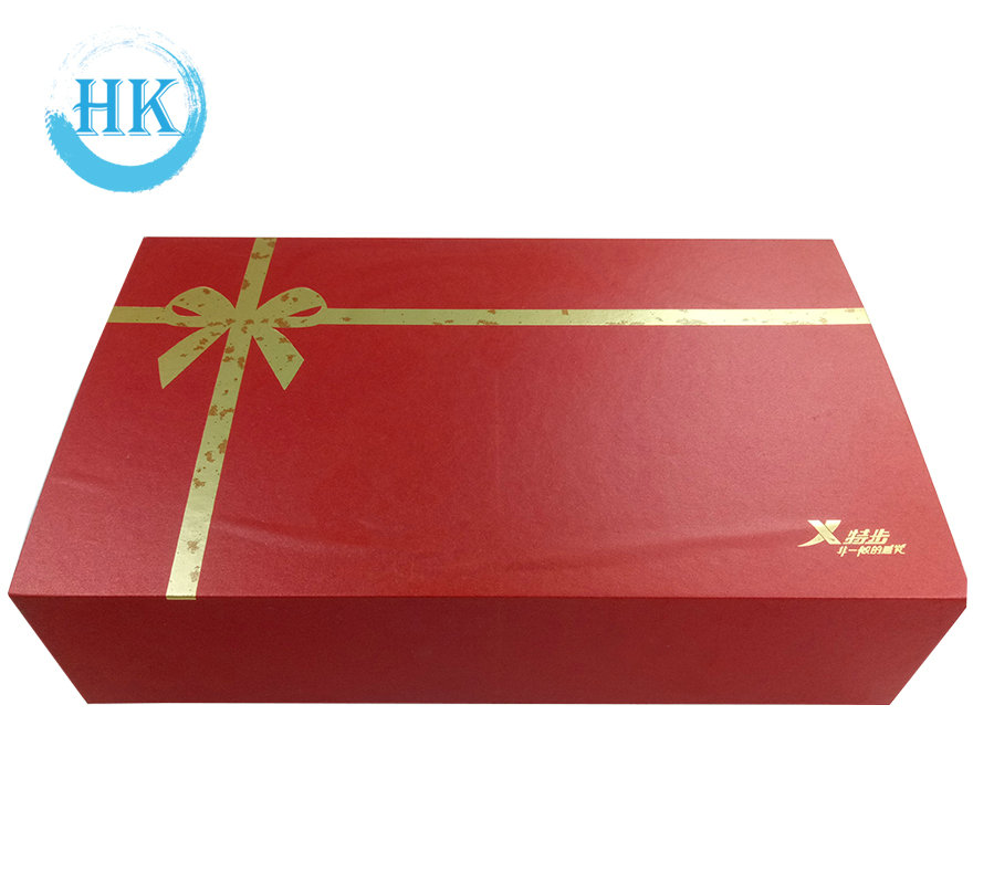 Red Matt Paper Folding Gift Box with Magnet Closure